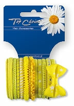Set elastice de păr 2 buc., 22043 - Top Choice — Imagine N1