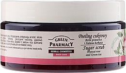 """Parfumuri și produse cosmetice Scrub de zahăr pentru corp """"Muscat Rose și Ceai verde"""" - Green Pharmacy"""