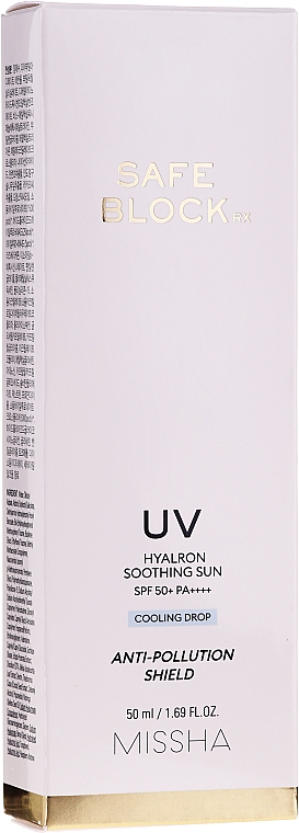 Cremă protecție solară cu 6 tipuri de acid hialuronic - Missha Safe Block RX Hyalron Soothing Sun 50+ — Imagine N2