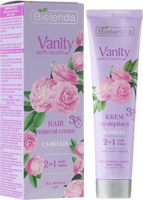 """Cremă pentru epilat """"Camellia"""" - Bielenda Vanity Soft Touch Kamelia — Imagine N1"""