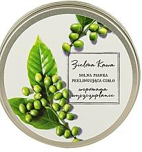 """Parfumuri și produse cosmetice Spumă-peeling de sare pentru baie """"Cafea verde"""" - The Secret Soap Store"""