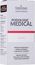 Parfumuri și produse cosmetice Cremă pentru îngrijirea pielii și a unghiilor, cu simptome de micoză - Farmona Professional Podologic Medical Cream For Skin With Fungal Infection Symptoms
