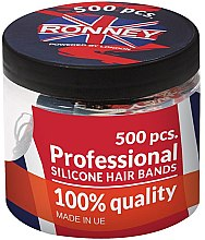 Parfumuri și produse cosmetice Elastice de păr din silicon, negre - Ronney Professional Silicone Hair Bands