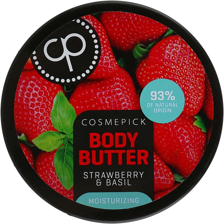 Unt hidratant cu extract de căpșuni și busuioc pentru corp - Cosmepick Body Butter Strawberry & Basil