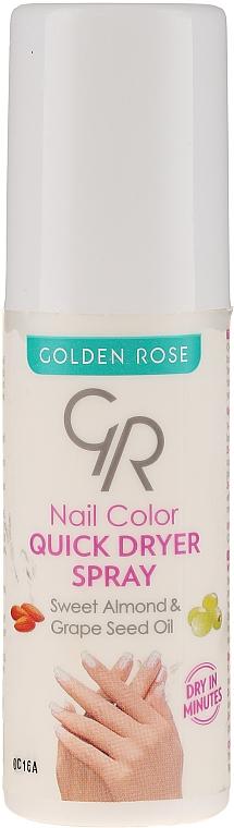 Spray uscare rapidă a lacului de unghii - Golden Rose Nail Quick Dryer Spray