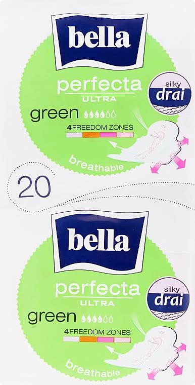 Absorbante Perfecta Green Drai Ultra, 2x10 bucăți - Bella