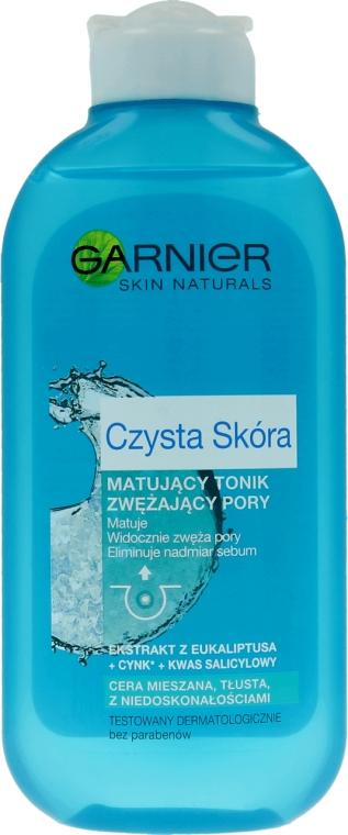 Tonic de curățare pentru ten gras împotriva punctelor negre - Garnier Skin Naturals