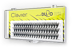"""Parfumuri și produse cosmetice Gene false """"Volum dublu"""", 9mm - Clavier DU2O Double Volume"""