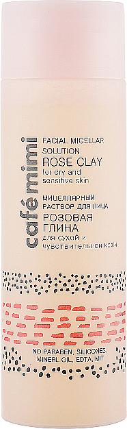 """Apă micelară """"Argilă roz"""" - Cafe Mimi Facial Micellar Solution Rose Clay"""