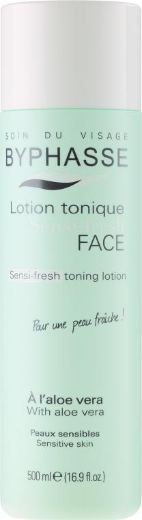 Soluție tonică pentru ten sensibil - Byphasse Sensi-fresh Aloe Vera Toning Lotion