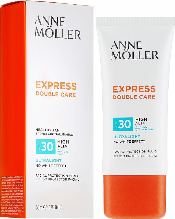 Fluid cu protecție solară pentru față - Anne Moller Double Care Ultralight Facial Protection Fluid SPF30 — Imagine N1
