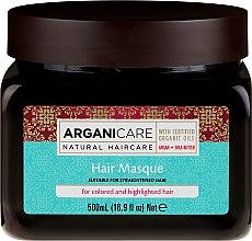 Parfumuri și produse cosmetice Mască pentru păr vopsit - Arganicare Shea Butter Argan Oil Hair Masque