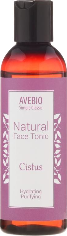 Tonic natural pentru față - Avebio Natural Face Tonic Cistus — Imagine N1