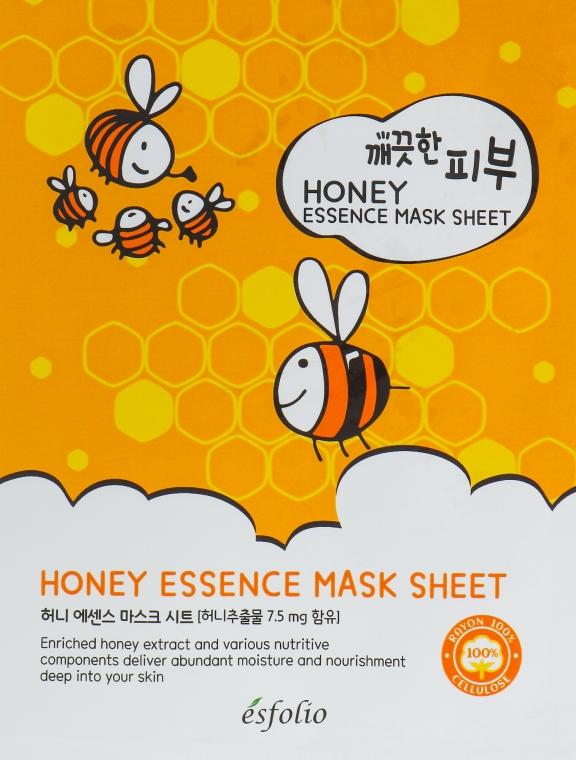 Mască din țesătură cu miere - Esfolio Pure Skin Essence Mask Sheet Honey