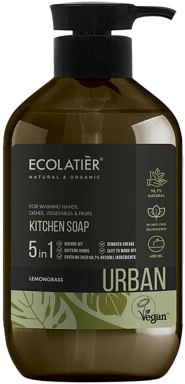"""Săpun lichid pentru bucătărie """"Lemongrass"""" - Ecolatier Urban Liquid Soap — Imagine N1"""