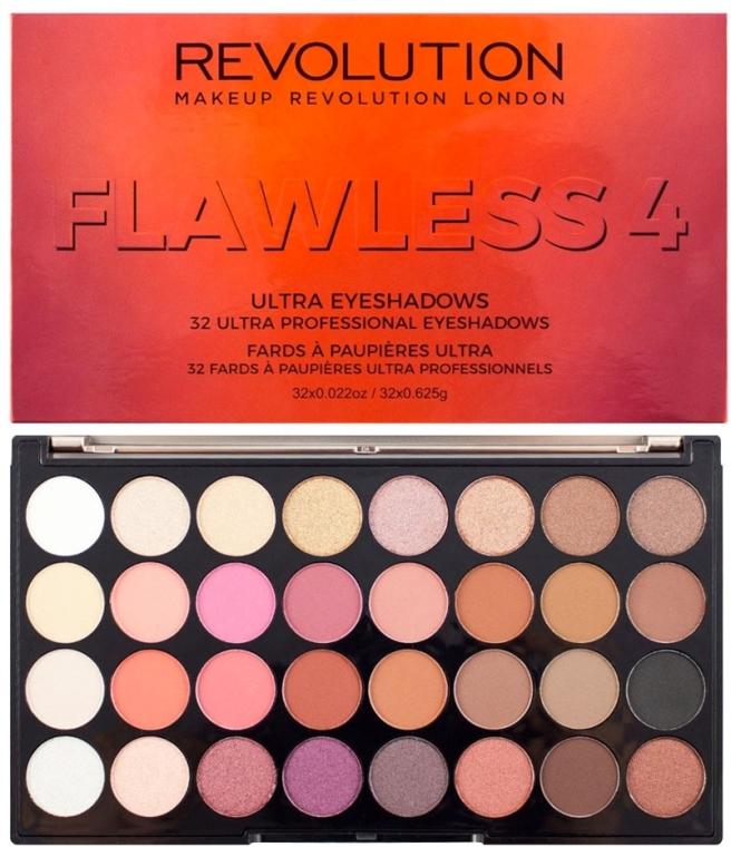 Paleta fard de ochi, 32 nuanțe - Makeup Revolution Ultra 32 Shade Palette Flawless 4