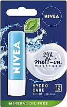 """Parfumuri și produse cosmetice Balsam de buze """"Aqua îngrijire"""" SPF 15 - Nivea Lip Care Hydro Care Lip Balm"""