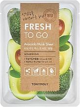 Parfumuri și produse cosmetice Mască de țesut cu extract de avocado - Tony Moly Fresh To Go Avocado Mask Sheet Nourishing