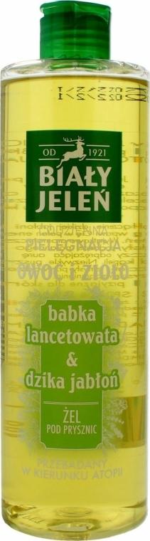 """Gel de duș """"Pătlagină și măr sălbatic"""" - Bialy Jelen"""