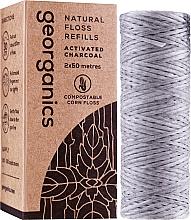 Parfumuri și produse cosmetice Ață dentară, 2x50m - Georganics Natural Charcoal Dental Floss (unitate de înlocuire)