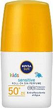 Parfumuri și produse cosmetice Loțiune roll-on cu protecție solară pentru copii - Nivea Sun Kids Protect & Sensitive Roll-on SPF50