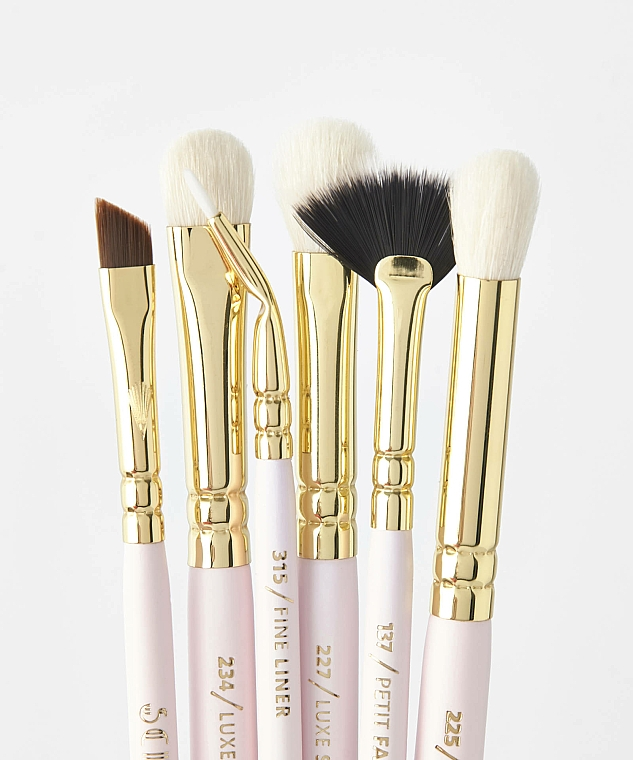 Set pensule pentru machiaj - Zoeva Screen Queen Complete Eye Brush Set (12 brushes + clutch) — Imagine N4