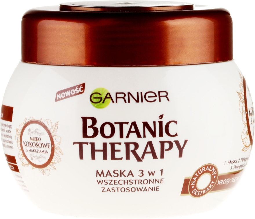 """Mască de păr """"Lapte de nucă de cocos și Ulei de Macadamia"""" - Garnier Botanic Therapy"""