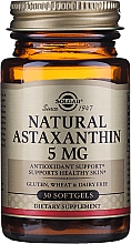 "Parfumuri și produse cosmetice Supliment nutritiv dietetic ""Astaxantina"" - Solgar Natural Astaxanthin 5 Mg"