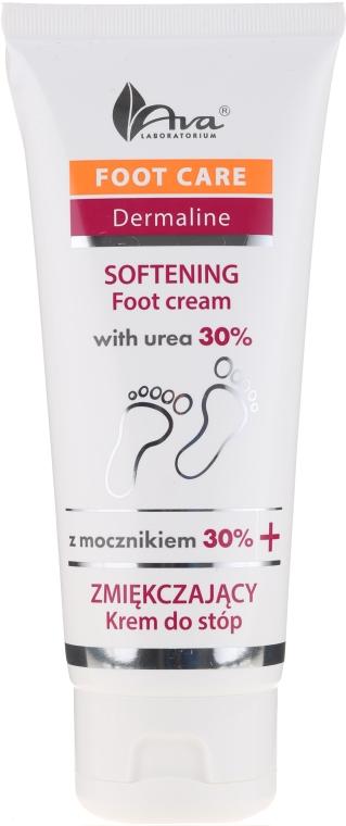 Cremă cu uree 30% pentru picioare - Ava Laboratorium Foot Care Dermaline Softening Foot Cream With Urea 30%