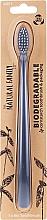 Parfumuri și produse cosmetice Periuță de dinți biodegradabilă, gri - The Natural Family Co Biodegradable Toothbrush