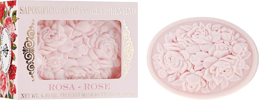 """Săpun natural """"Trandafir"""" - Saponificio Artigianale Fiorentino Botticelli Rose Soap"""