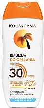Parfumuri și produse cosmetice Emulsie pentru bronz cu protecție solară - Kolastyna Suncare Emulsion SPF 30
