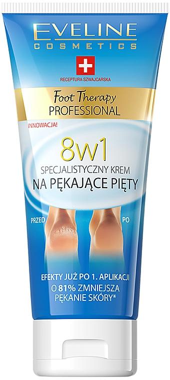 Cremă pentru calcâie crăpate 8in1 - Eveline Cosmetics Foot Therapy Professional