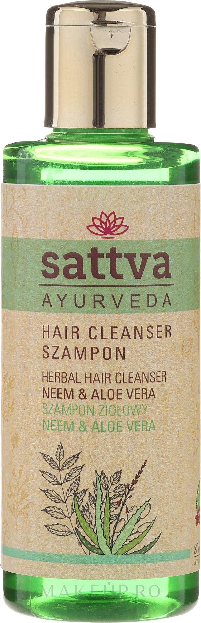 Șampon hidratant - Sattva Cleanser Shampoo Neem Aloe Vera — Imagine 210 ml