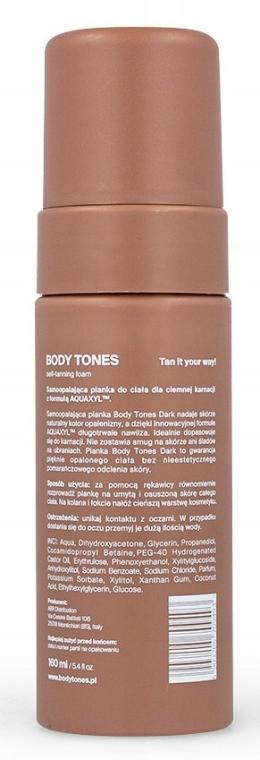 Spumă autobronzantă - Body Tones Self-Tanning Foam Dark — Imagine N3