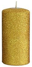 Parfumuri și produse cosmetice Lumânare decorativă, aurie, 7x14 cm - Artman Glamour
