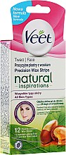 Parfumuri și produse cosmetice Benzi pentru epilare - Veet Natural Inspirations Face Wax Strips