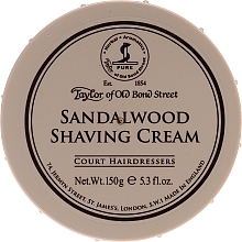 "Parfumuri și produse cosmetice Cremă de ras ""Lemn de santal"" - Taylor of Old Bond Street Sandalwood Shaving Cream Bowl"