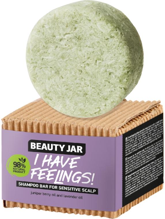Șampon solid cu ulei de ienupăr și lavandă pentru scalp sensibil - Beauty Jar I Have Feelings — Imagine N1