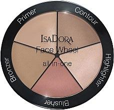 Parfumuri și produse cosmetice Paletă 5 în 1 pentru machiaj - IsaDora Face Wheel All-In-One