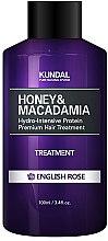 "Parfumuri și produse cosmetice Balsam de păr ""Trandafir englez"" - Kundal Honey & Macadamia Treatment English Rose"