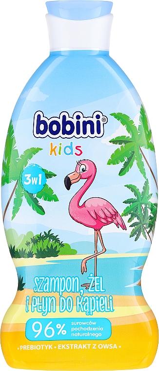 """Gel de duș pentru copii """"Zmeură"""" - Bobini"""