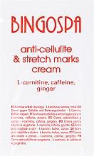 Parfumuri și produse cosmetice Cremă cu L-carnitină, cofeină și ghimbir împotriva celulitei și vergeturilor - BingoSpa Cream For Cellulite
