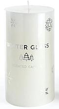 Parfumuri și produse cosmetice Lumânare aromatică, albă, 9x8cm - Artman Winter Glass
