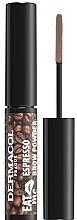 Parfumuri și produse cosmetice Pudră pentru sprâncene - Dermacol Eat Me Espresso Eyebrow Powder