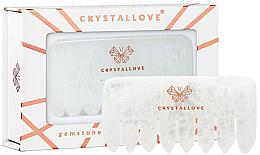 Parfumuri și produse cosmetice Pieptene din cuarț transparent - Crystallove Clear Quartz Comb