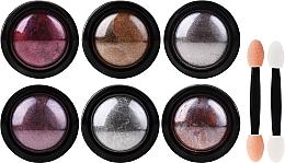 Parfumuri și produse cosmetice Set pentru designul unghiilor - Deni Carte (powder/6pcs + applicator/6pcs)