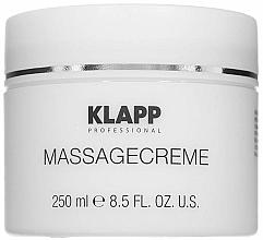 Parfumuri și produse cosmetice Cremă pentru masaj - Klapp Massage Creame
