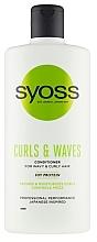 Parfumuri și produse cosmetice Balsam pentru păr creț și ondulat - Syoss Curls & Waves Conditioner With Soi Protein