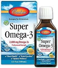 """Parfumuri și produse cosmetice Supliment alimentar """"Omega-3"""" aromă de lămâie - Carlson Labs Super Omega 3 Norwegian Fish Oil Concentrate Lemon 2600"""